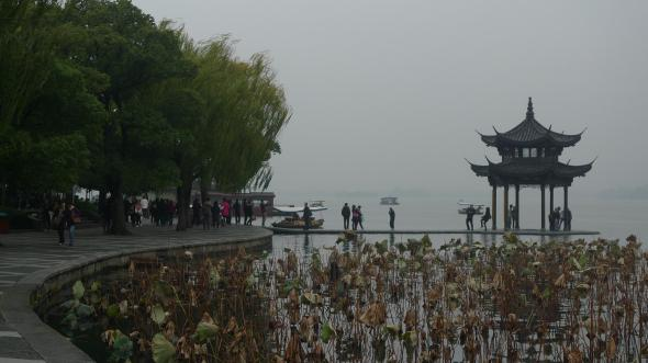 West Lake in the cold